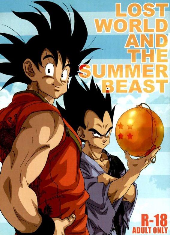 Goku e Vegeta no melhor verão