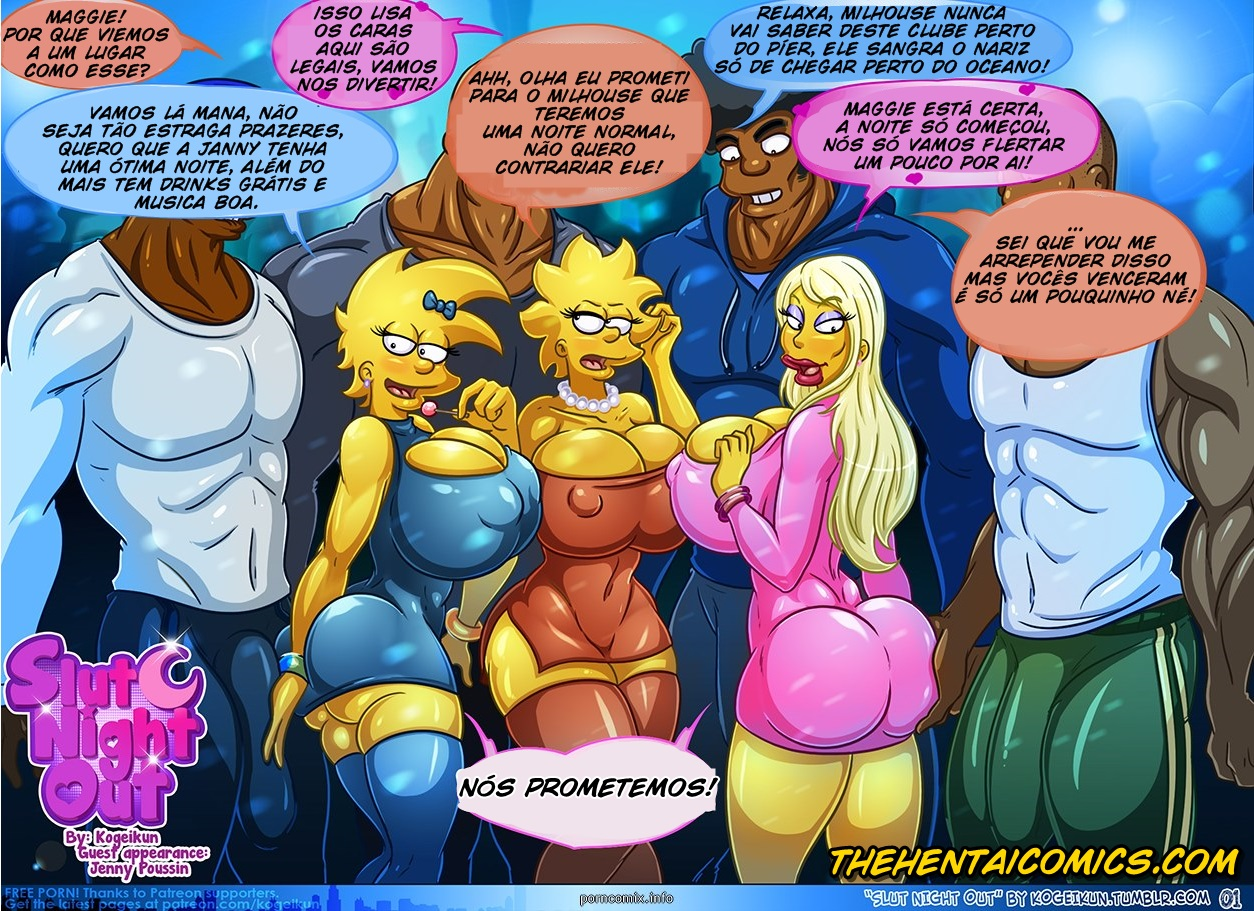 Slut night out – Simpsons
