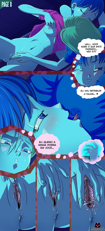 Android 18 + Bulma - sexo com as delícias de Dragon Ball